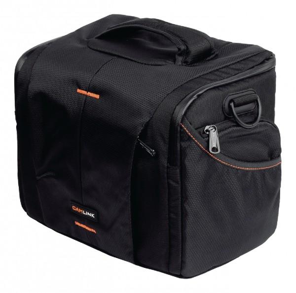 Kameratasche schwarz orange f. AgfaPhoto Precisa 1430