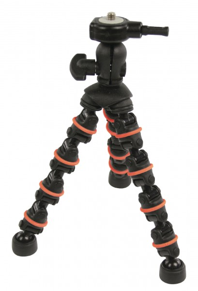 Flexibles Stativ 18 cm 0.5 kg Schwarz/Orange