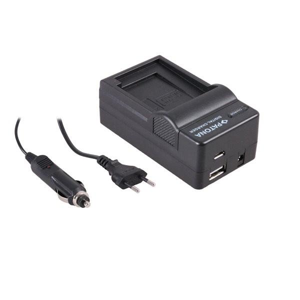 Akku Ladegerät m. micro USB f. Panasonic Lumix DMC-G81